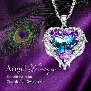 Angle Wing Love Heart Necklaces for Women